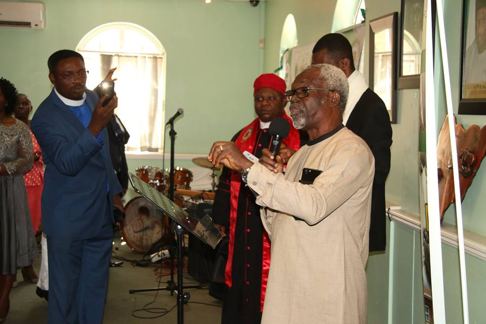 Rev Engr. Harrison Dejo Akinsule praying for the Nigerian Consulate and High Commission