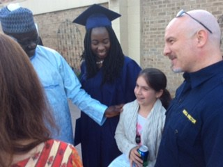 Chibok girl with her proud American sister and family