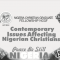 Contemporary Issues Affecting Nigerian Christians