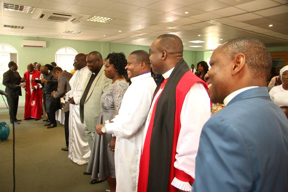 Cross section of CANSAF Leaders during the prayer