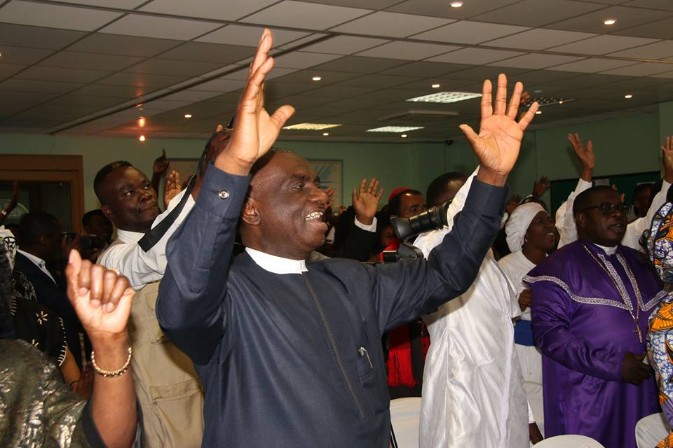 The Nigerian Consular General Ambassador Godwin Adama during the Praise and Worship